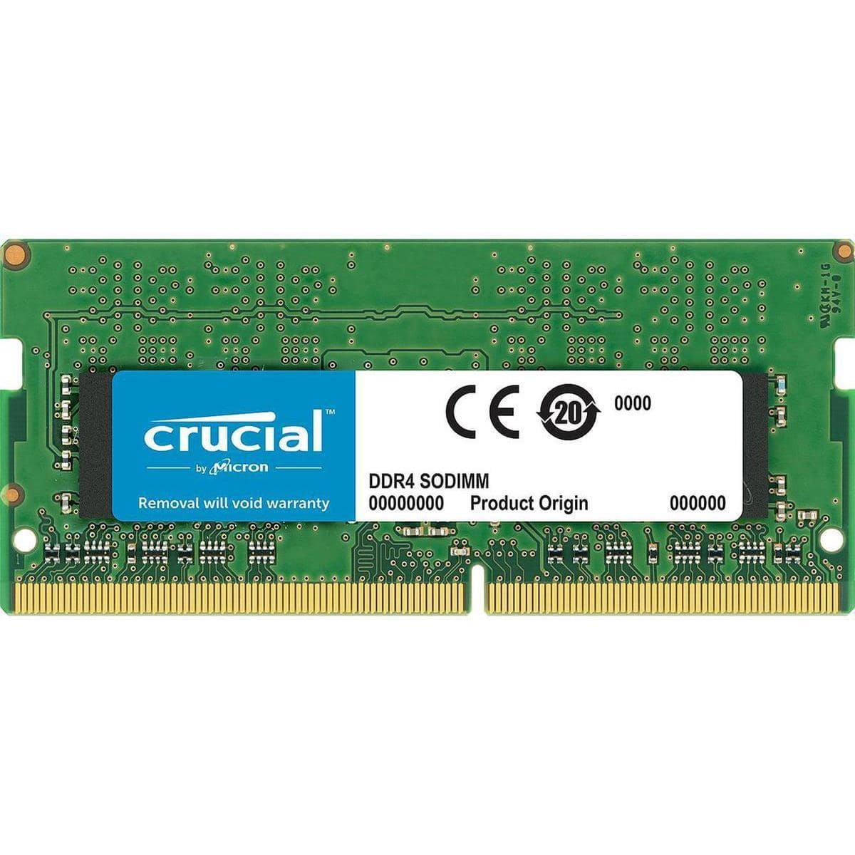 Crucial/Ballistix Memory 20% off with code: Crucial 8GB DDR4 2666 260-PIN SODIMM @ $25.6, and more
