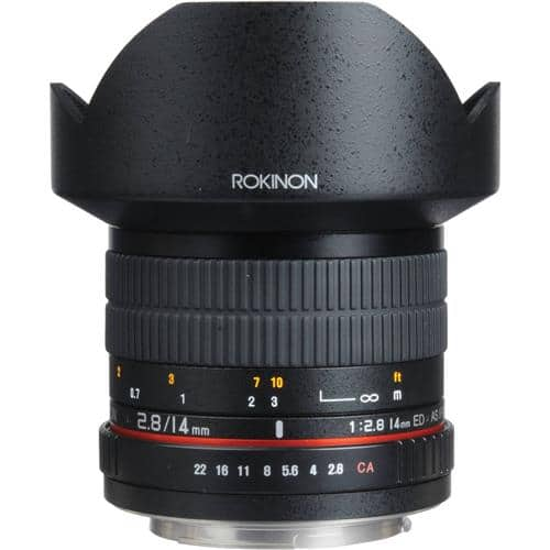 Samyang/Rokinon 14mm F/2.8 Ultra Wide Angle Manual Focus Lens: Sony E @ $183.2, Canon EF @ $199.2, and more (with coupon)