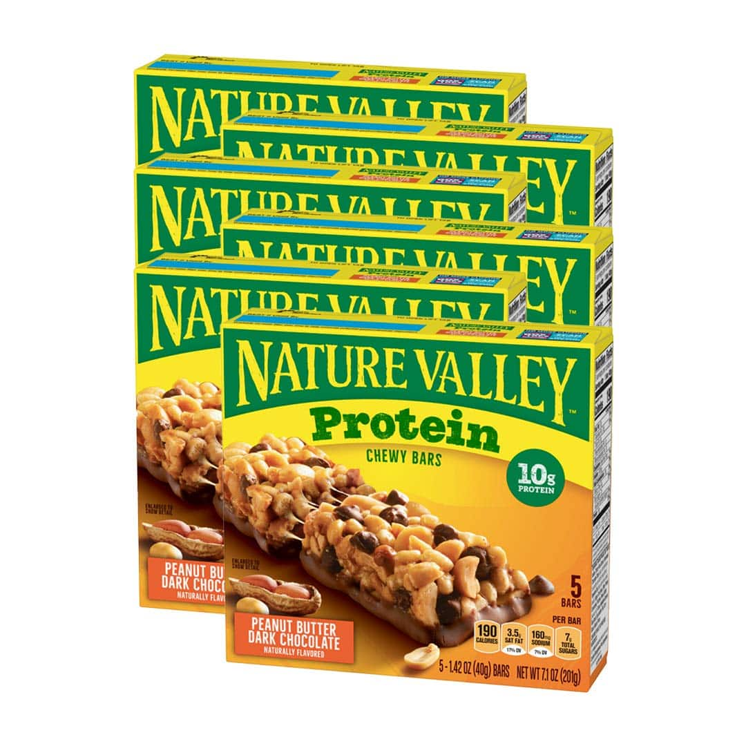 30-Ct 1.42oz Nature Valley Chewy Protein Granola Bar (Peanut Butter Dark Chocolate) $12