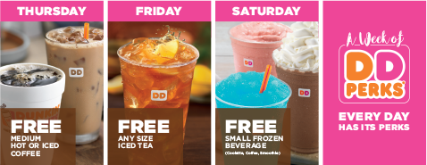 FREE Dunkin' Donuts Select Food/Drink Sep 25 - Oct 1 (DD Perks Members Only) - YMMV