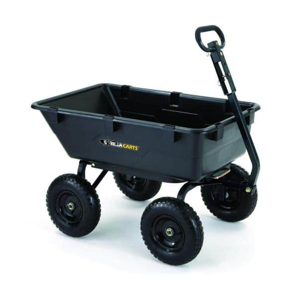 YMMV  Gorilla Carts 1,200 lb. Heavy Duty Poly Dump Cart  $35.05+tax