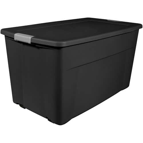 4-Pack Sterilite 45-Gallon Wheeled Latch Totes (Black) $16.86 - YMMV - If in stock locally (Please Read!)