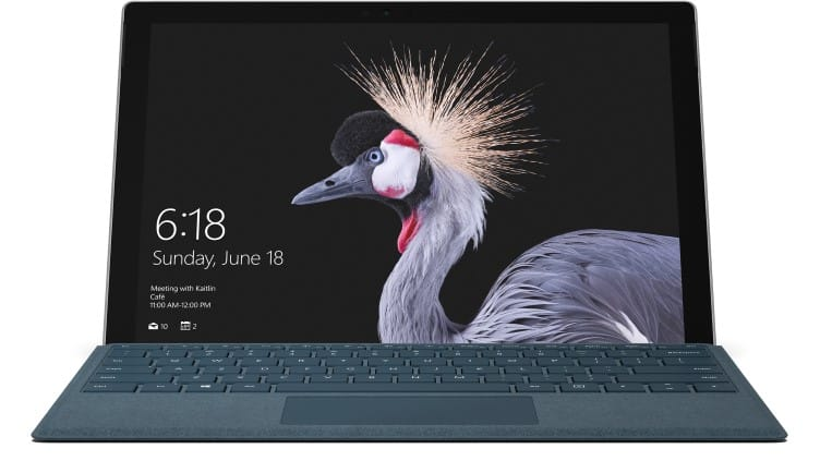 Microsoft Surface Pro (newest version) m3 / 128GB SSD / 4GB RAM (or $200 off any other model) $599