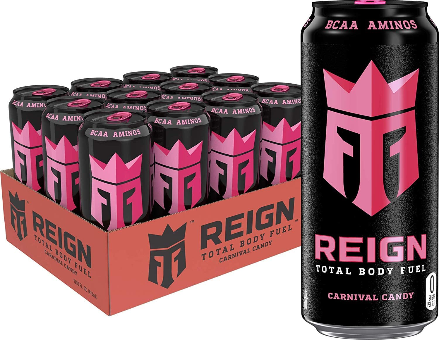 Reign Total Body Fuel, Carnival Candy, Fitness & Performance Drink, 16 oz (Pack of 12) $18.98