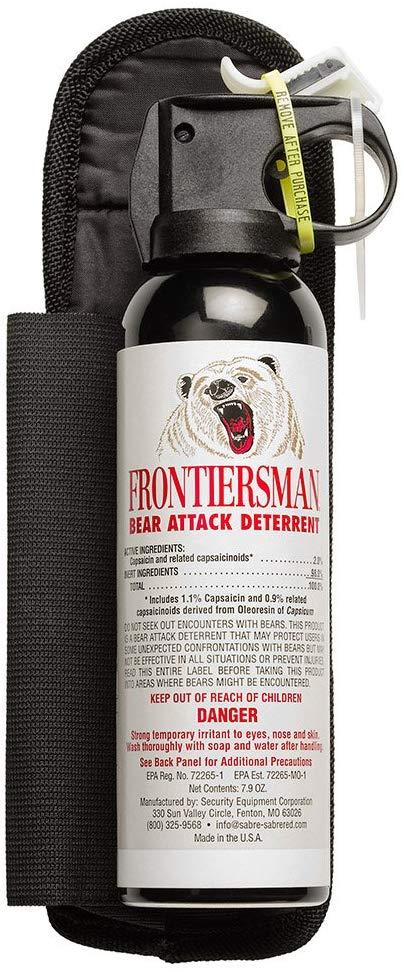 Sabre Frontiersman Bear Spray 7.9 oz w/ Belt Holster $22.93