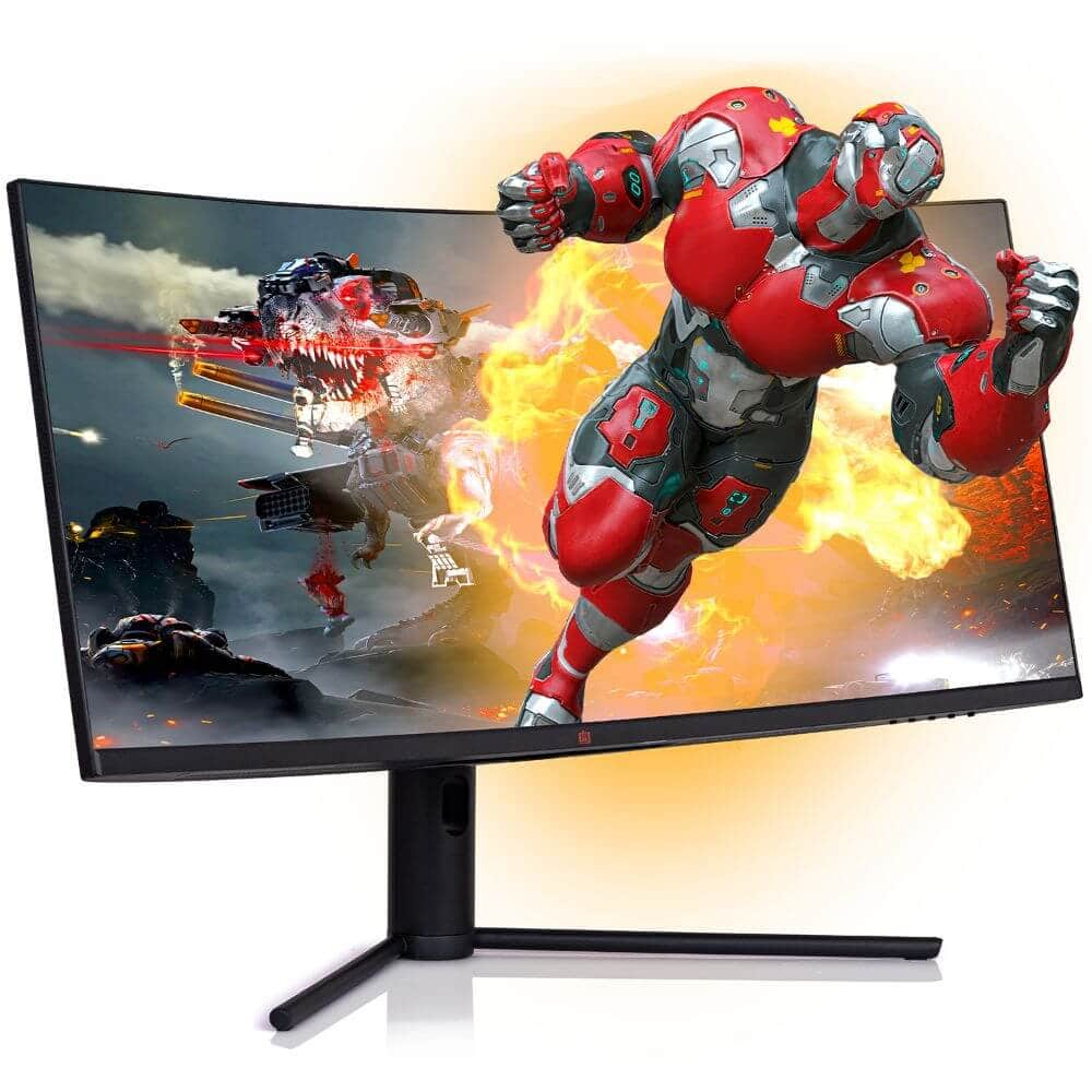 "Deco Gear 34"" 3440x1440 21:9 Ultrawide Curved Monitor, 144Hz $379.99"