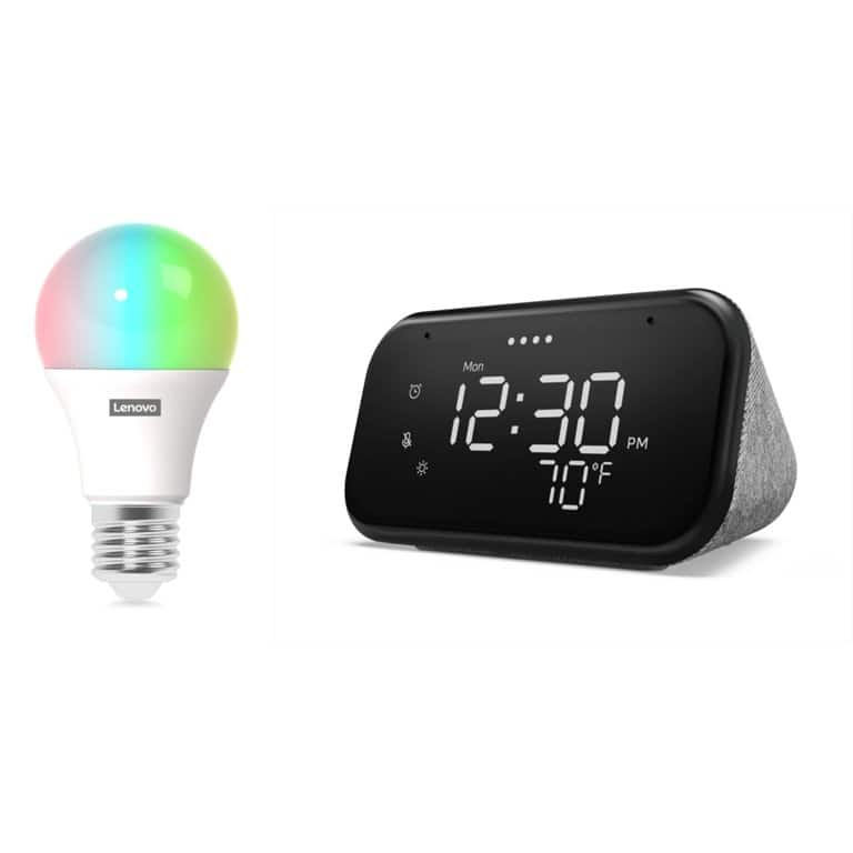 Lenovo Smart Clock Essential and Smart Color Bulb (YMMV In-Store Only) $17