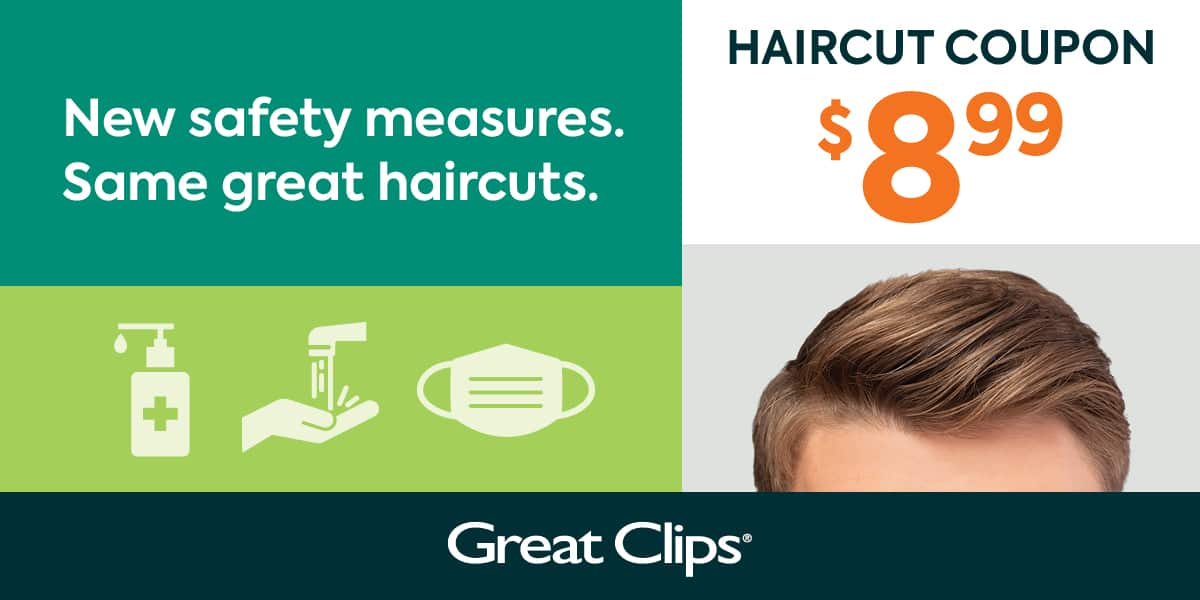 Great Clips - $8.99 at any participating salons - Exp 11/25/20