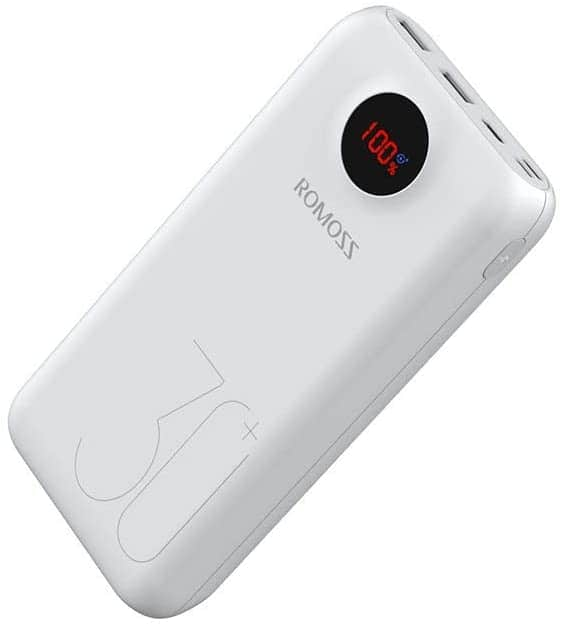 ROMOSS USB C Power Bank, 30000mAh PD Portable Charger 18W 3 Outputs and 3 Inputs $23.39+F/s