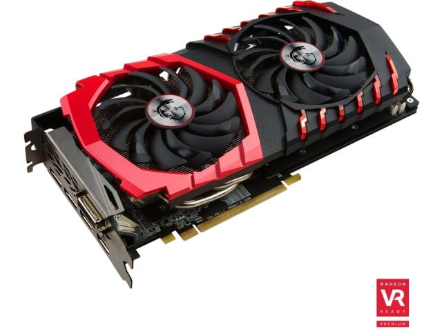 MSI Radeon RX 480 Gaming X 4GB GDDR5 Video Card $155 w/ AMEX offer+ $20 Rebate