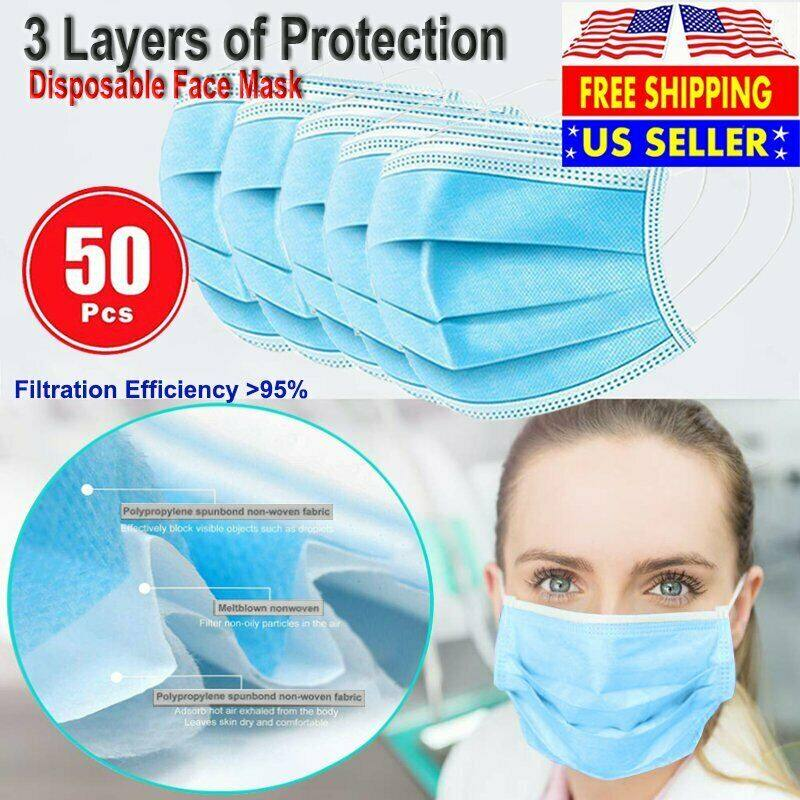 3 PLY Disposable Mask 50 pk $6.88
