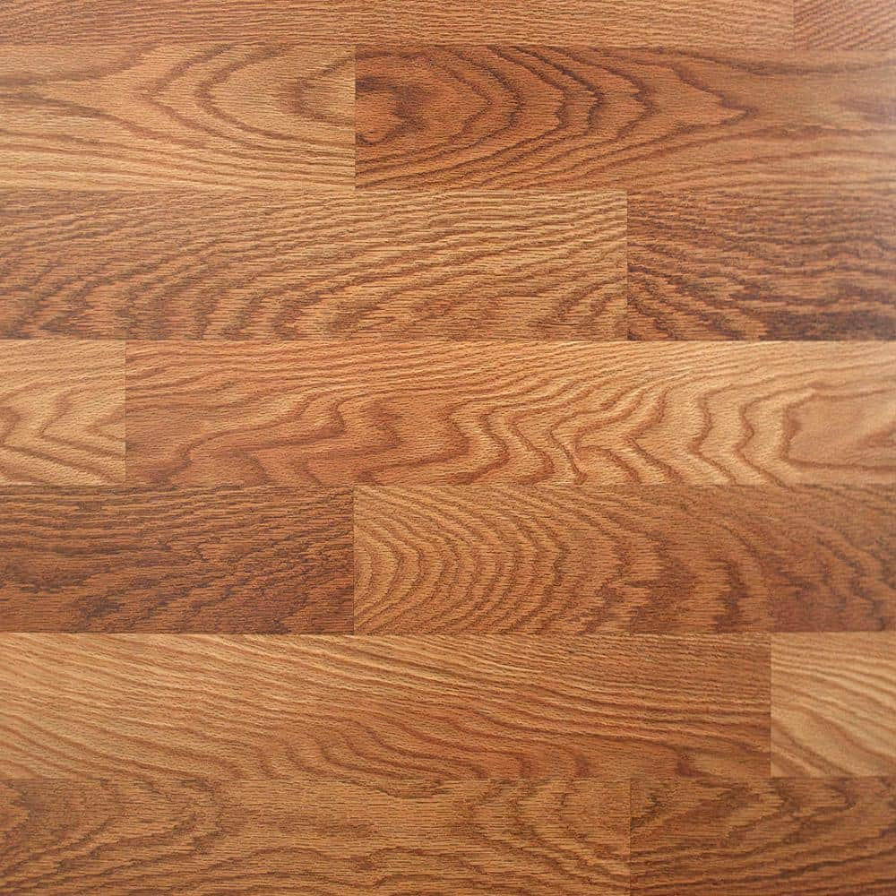 Trafficmaster Lansbury Oak 7mm Laminate Flooring 0 49 Sqft Ymmv B M