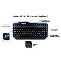 NeweggFlash Deal: [NeweggFlash] Nixeus Moda Mechanical Tenkeyless Keyboard 38%off 79.99 : $49.99