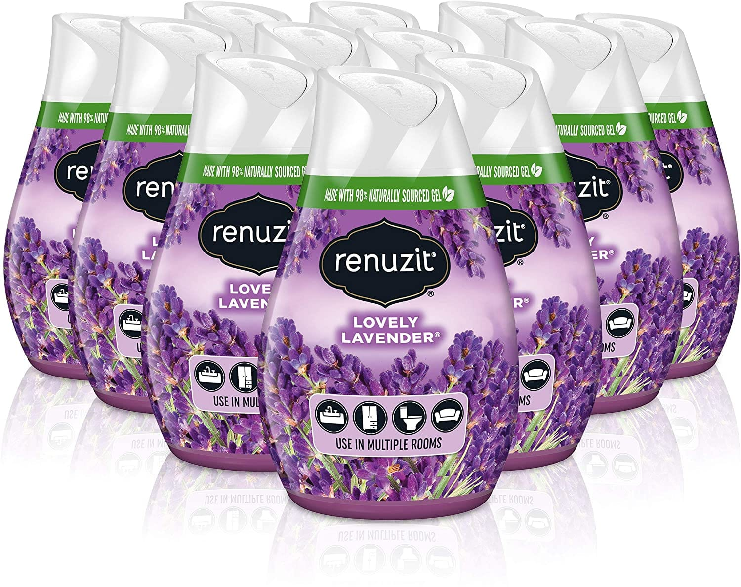 12-Count 7-Oz Renuzit Gel Air Freshener (Lovely Lavender) $7.25 w/ S&S + Free Shipping w/ Prime or on $25+
