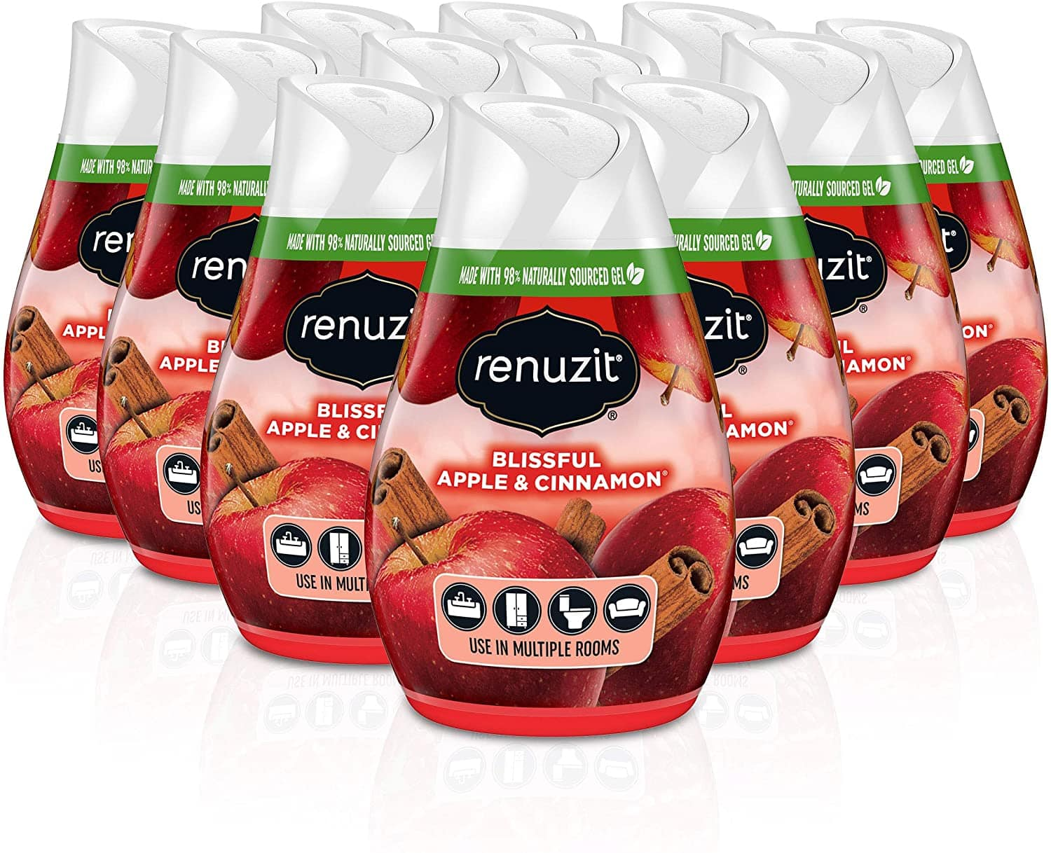 12-Count Renuzit Gel Air Freshener (Blissful Apple & Cinnamon) $7.17 w/ S&S + Free Shipping w/ Prime or on $25+