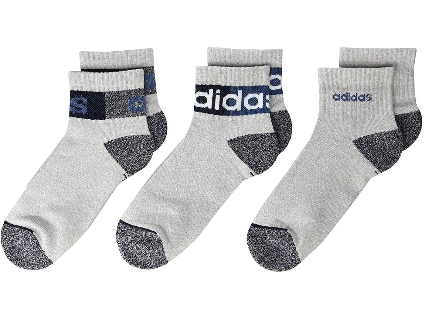 6-Pair adidas Kids' Boys/Girls Blocked Linear Quarter Socks (various colors, medium or large) $3.95 + Free Shipping w/ Prime or on $25+