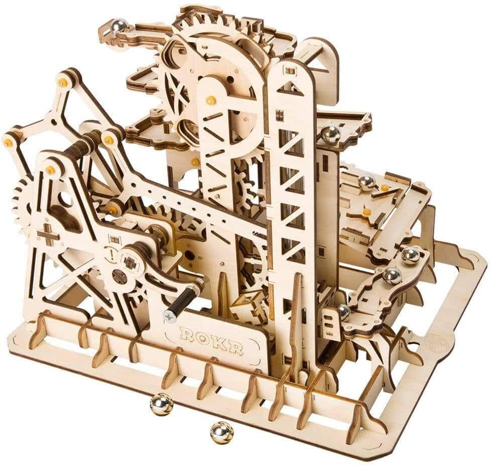 ROBOTIME 3D Wooden Craft Kits Brain Teaser Games Mechanical Gears Set with Steel Balls $19.20 + Free Shipping w/ Prime or on $25+