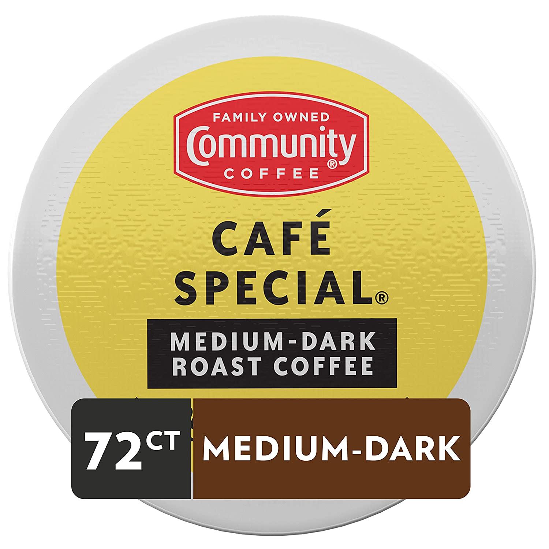 72-Ct Community Coffee Single-Serve K-Cup Coffee Pods (Medium Dark Roast, Dark Roast) $22.50 w/ S&S + Free Shipping w/ Prime or on $25+