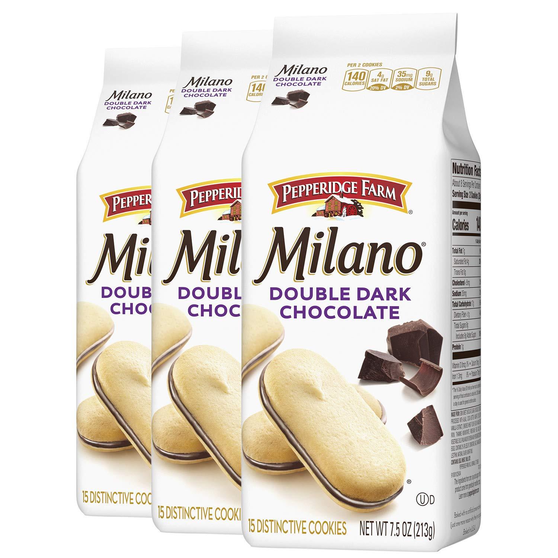 3-Ct 7.5-Oz Pepperidge Farm Milano Cookies (Double Dark Chocolate) $7.10 w/ S&S + Free Shipping w/ Prime or on $25+