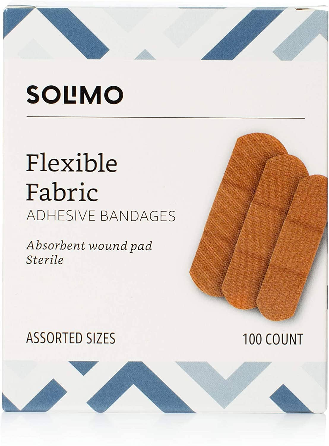 100-Ct Amazon Brand Solimo Flexible Fabric Adhesive Bandages (Assorted Sizes) $3.90 + Free Shipping w/ Prime or on $25+