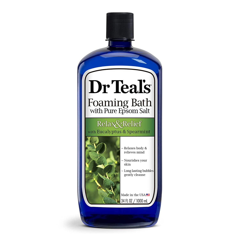 34-Oz Dr Teal's Foaming Bath w/ Pure Epsom Salt (Eucalyptus Spearmint) $3.65 + Free Shipping w/ Prime or on $25+