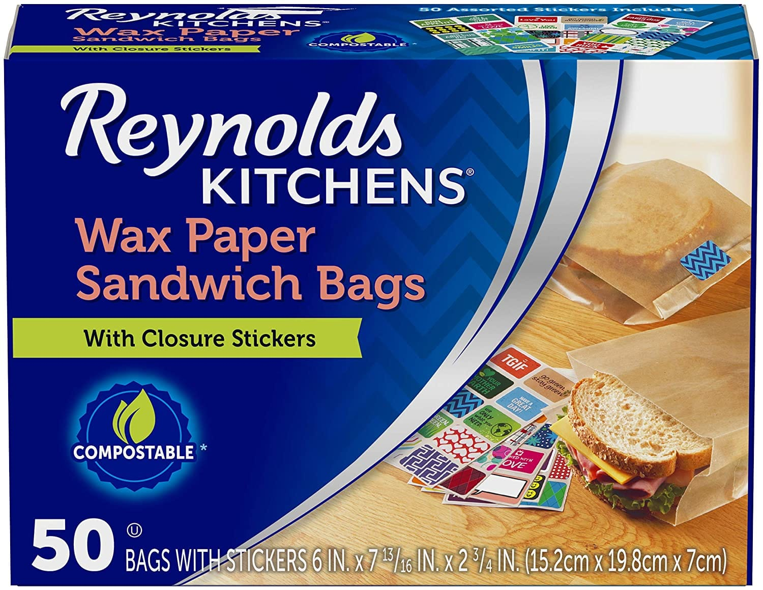 50-Ct Reynolds Kitchen Wax Paper Sandwich Bags $2.59 w/ S&S + Free Shipping w/ Prime or on $25+