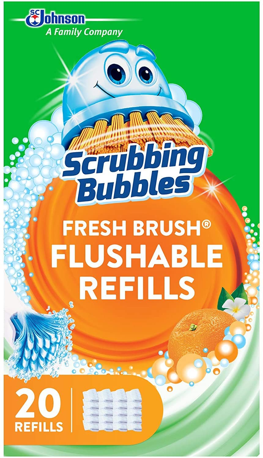 20-Count Scrubbing Bubbles Fresh Brush Flushable Refills (Citrus) $4.70 w/ S&S + Free Shipping w/ Prime or on $25+