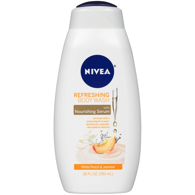 20-Oz NIVEA White Body Wash w/ Nourishing Serum (Peach and Jasmine) $3.75 w/ S&S + Free Shipping w/ Prime or on $25+