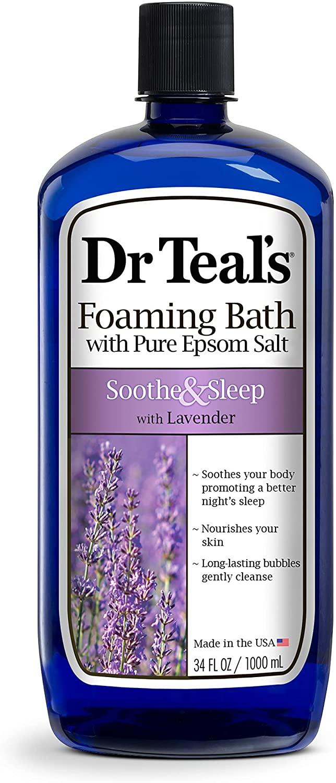 34-Oz Dr Teal's Foaming Bath w/ Pure Epsom Salt (Lavender or Eucalyptus Spearmint) $3.20 + Free Shipping w/ Prime or on $25+