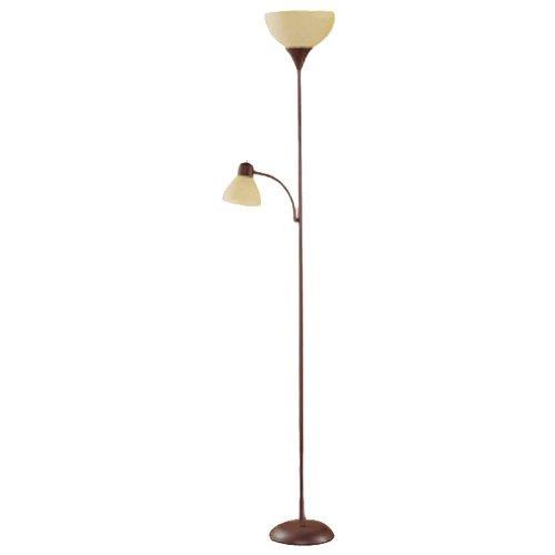 "72"" Mainstays Floor Lamp w/Adjustable Reading Lamp (brown) $11.44 + Free Store Pickup at Walmart YMMV"