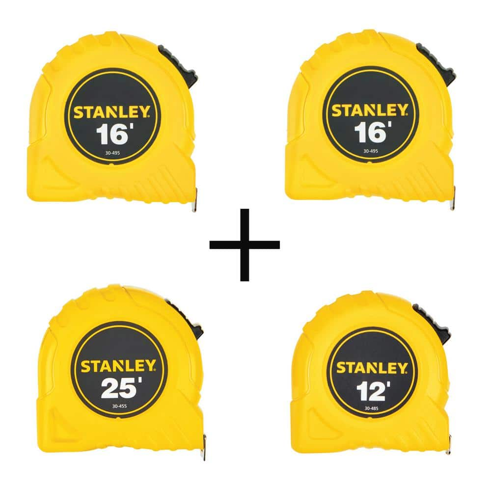 4-Piece Stanley Tape Measure (2x 16', 25', 12') $10 + Free Shipping