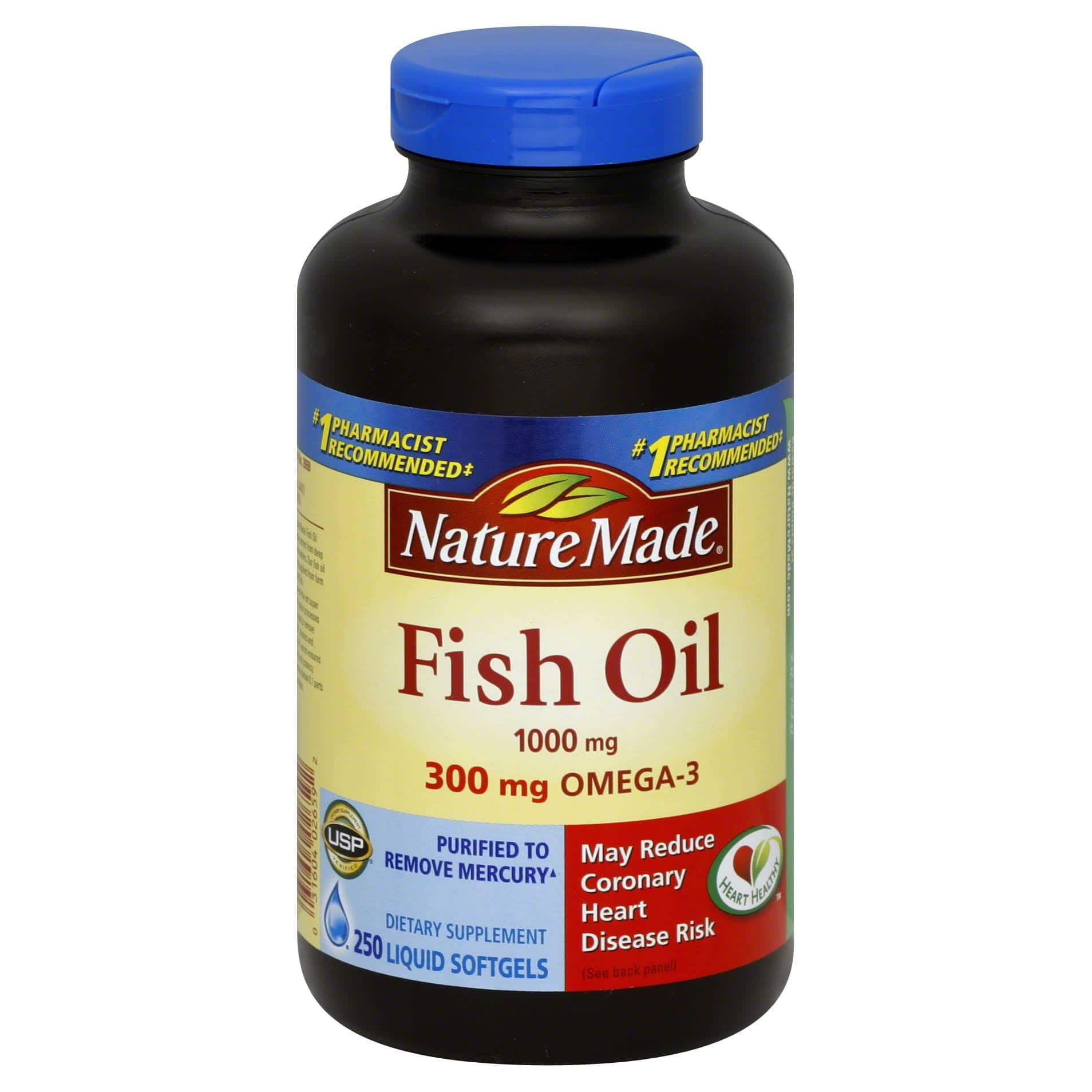 250-Count Nature Made 1000mg Fish Oil Softgels $8.79 w/ Subscribe & Save + Free Shipping w/ Prime or $25+