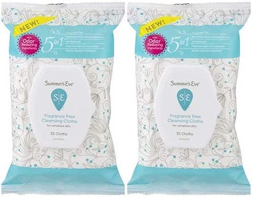 32-Count Summer's Eve Fragrance Free Cleansing Cloths 2 for $4.88 ($2.44 each) w/ S&S + Free Shipping w/ Prime or on $25+