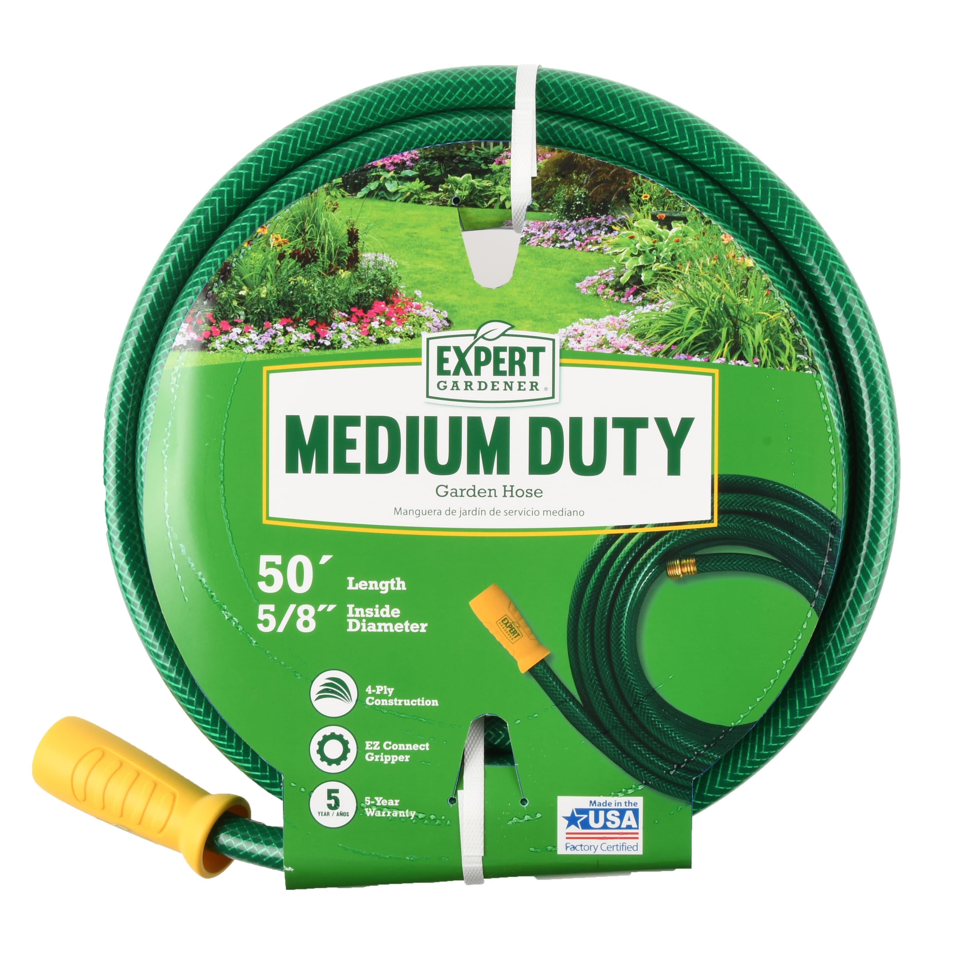 "50' x 5/8"" Expert Gardener Medium Duty Garden Hose $12.48 + Free Store Pickup at Walmart of F/S on $35+"