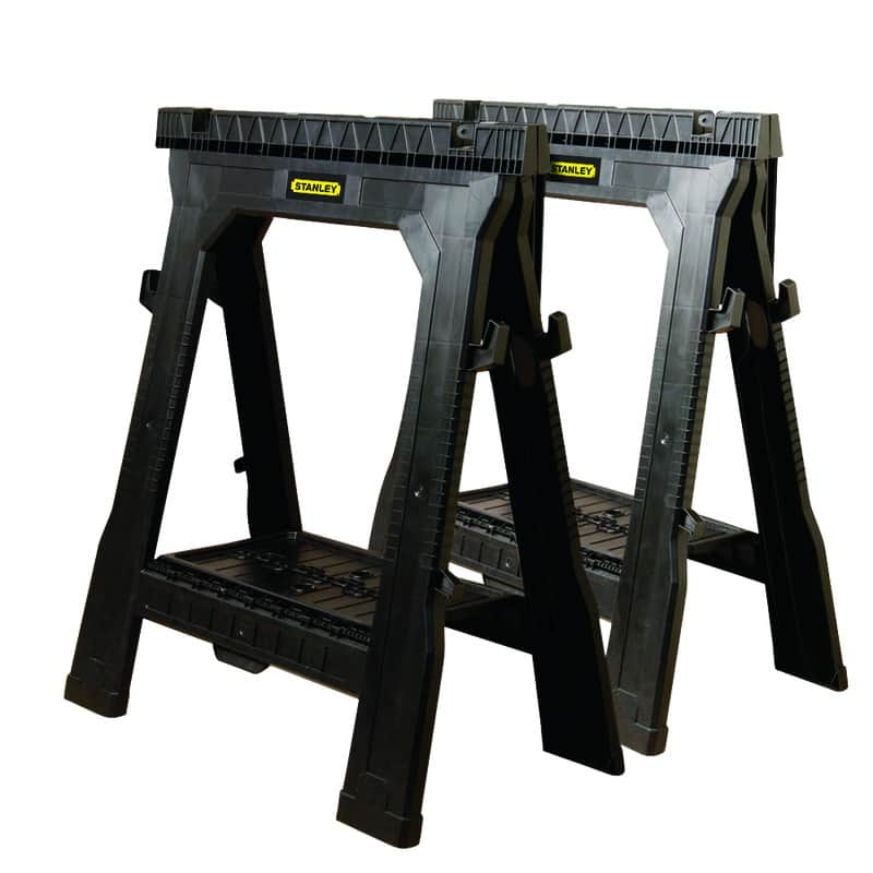 "2-Pack 26-7/8"" Stanley Folding Sawhorse $20 + Free Curbside Pickup at Ace Hardware"