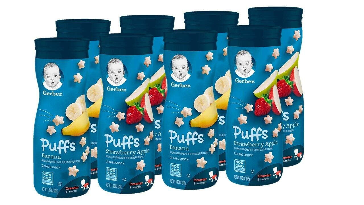 8-Ct 1.48-Oz Gerber Puffs Cereal Snack (Banana & Strawberry Apple) $9.48 ($1.19 each) w/ S&S + Free Shipping w/ Prime or on $25+