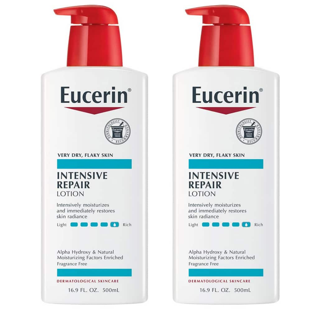 16.9-Oz Eucerin Intensive Repair Lotion (Fragrance Free) 2 for $12.55 w/ S&S & More + Free Shipping w/ Prime or on $25+