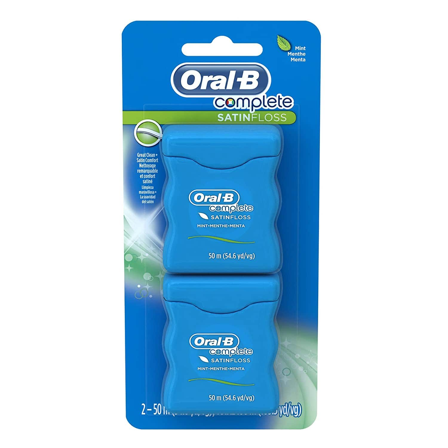 2-Ct 54.6-Yd Oral-B Complete SatinFloss Dental Floss $2.55 + Free Shipping w/ Prime or on $25+