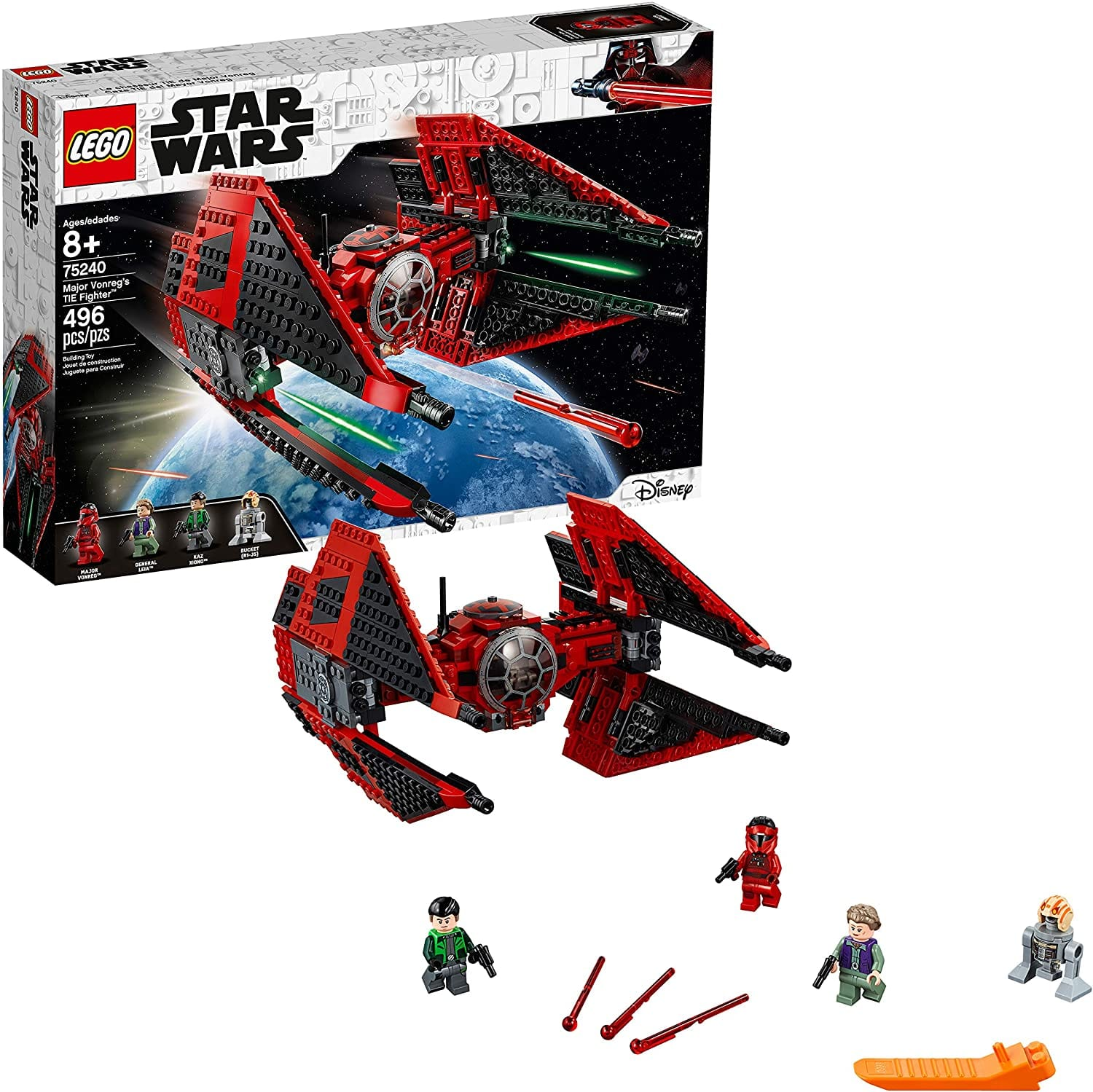 496-Piece LEGO Star Wars Major Vonreg's TIE Fighter (75240) $51.80 + Free Shipping