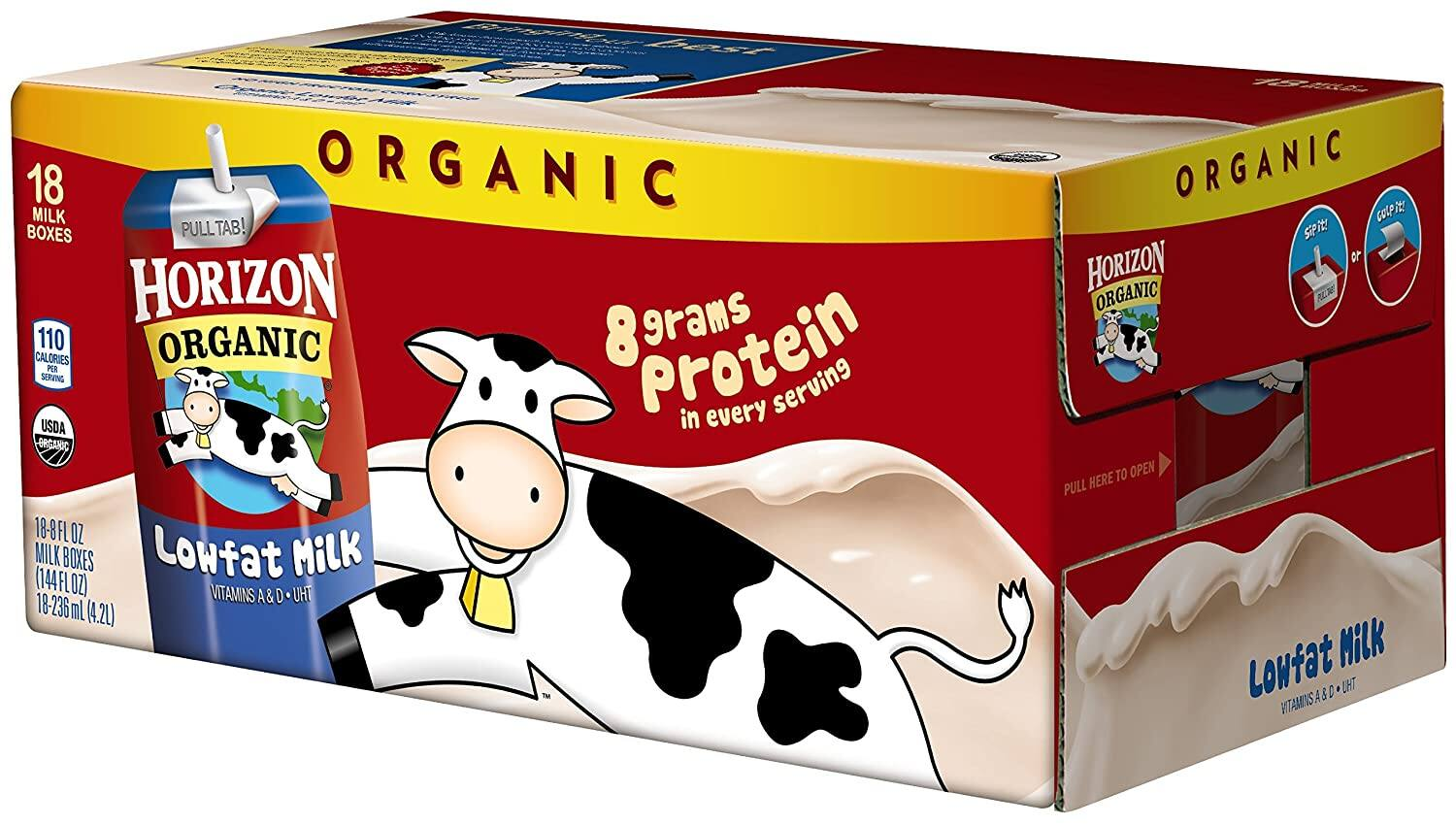 18-Count 8-Oz Horizon Organic 1% Low Fat Milk $10.60 w/ S&S + Free Shipping w/ Prime or on $25+