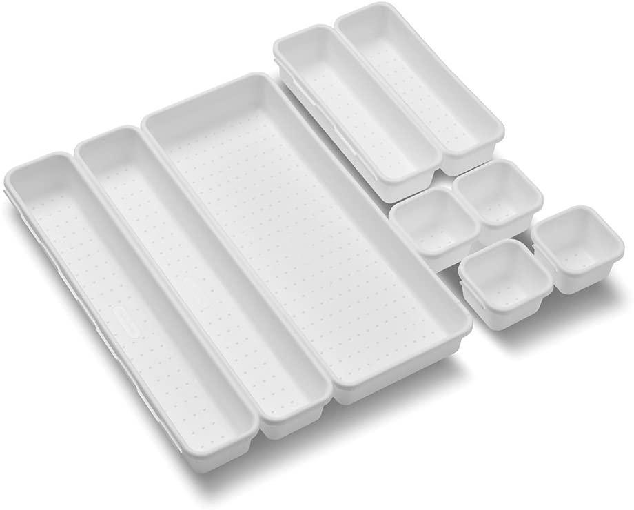 9-Piece Madesmart Value Interlocking Organizer Bin Pack (White) $7.95 + Free Shipping w/ Prime or on $25+