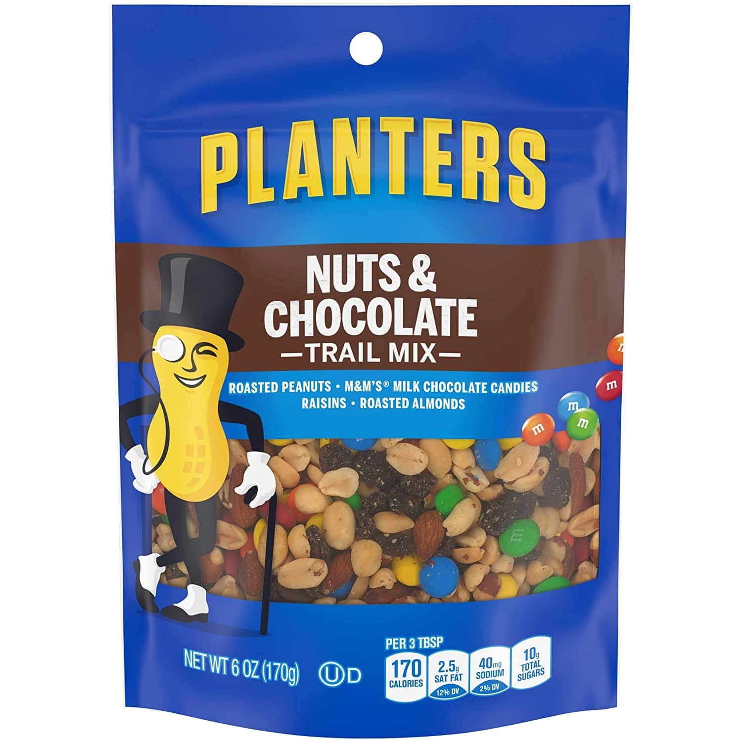 6-Oz Planters Nuts and Chocolate M&M's Trail Mix $1.90 w/ S&S + Free Shipping w/ Prime or on $25+