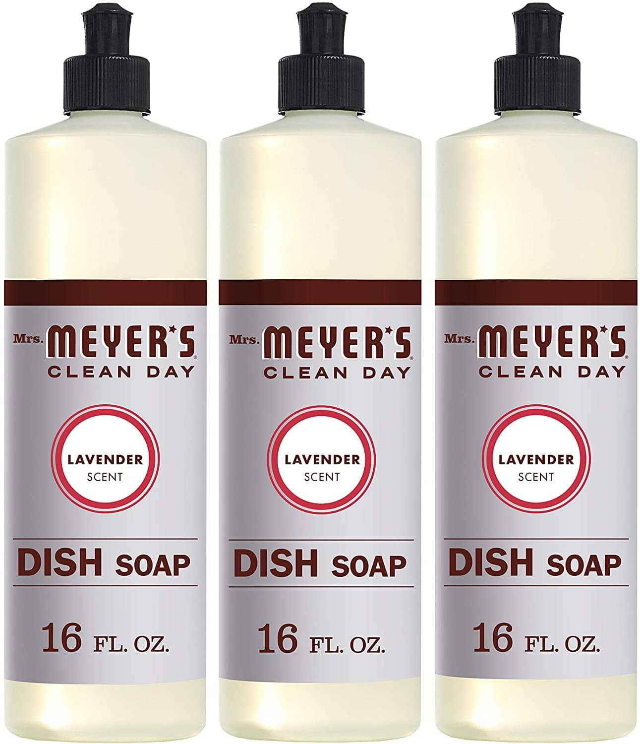 3-Count of 16-Oz Mrs. Meyers Clean Day Liquid Dish Soap (Lavender or Lemon Verbena) $8.75 w/ S&S + Free Shipping w/ Prime or on $25+
