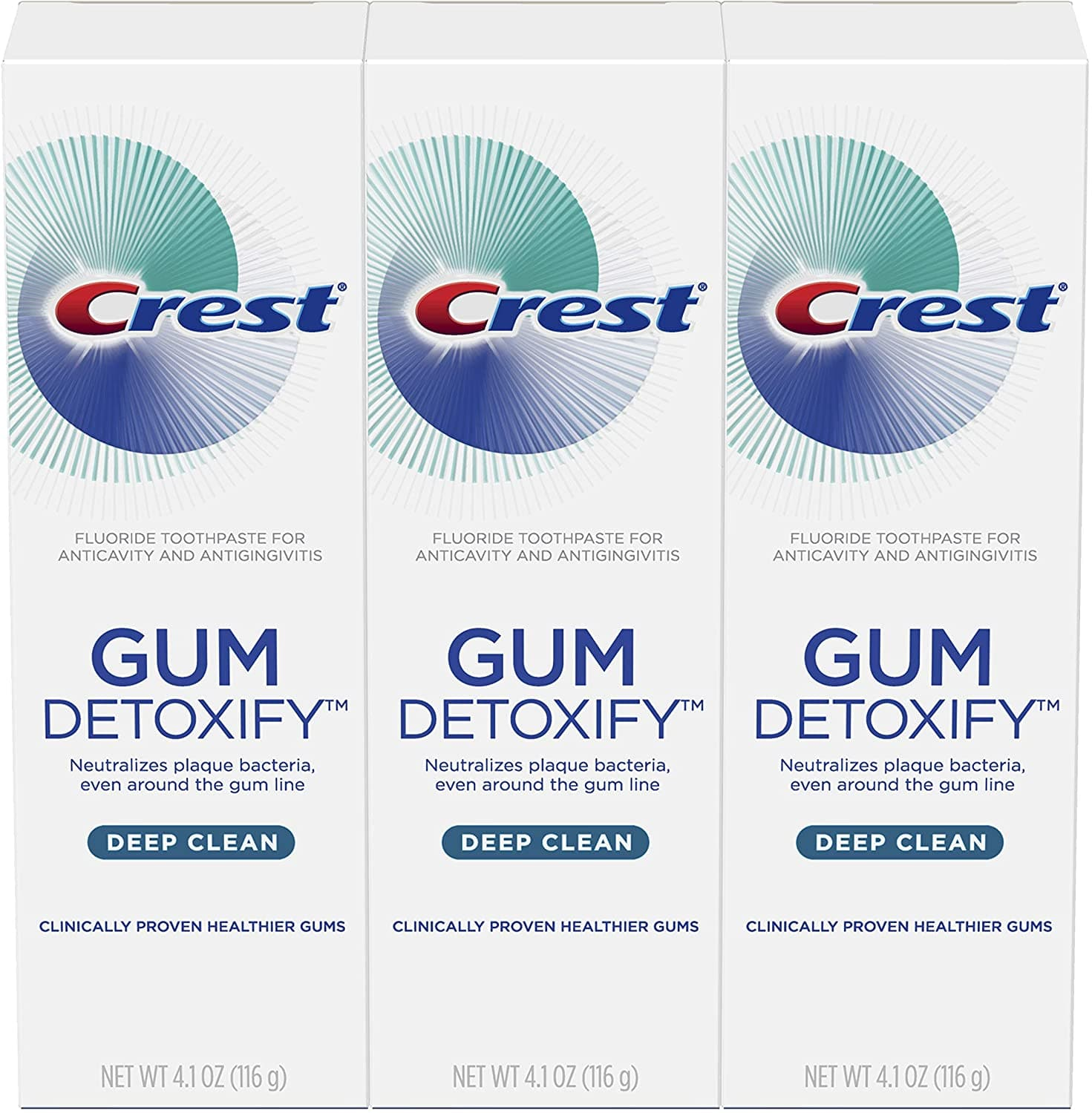 3-Pack 4.1-Oz Crest Gum Detoxify Deep Clean Toothpaste $8.30 w/ S&S + Free Shipping w/ Prime or on $25+