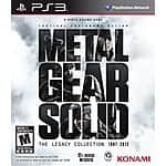 Metal Gear Solid: The Legacy Collection (PS3) - $25.75, Metal Gear Solid HD Collection - $17.75, Free Shipping