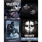PS3 Call of Duty Ghosts + Season Pass + Steelbook + Paracord Strap - $13.49, Free Shipping