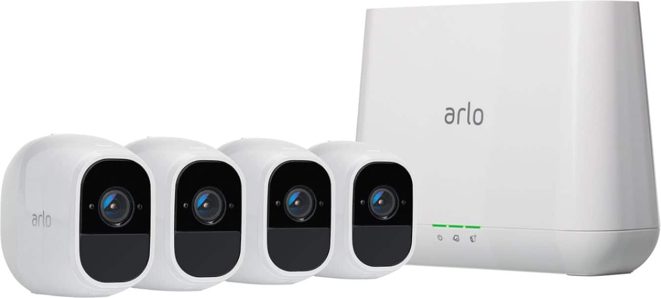 Arlo - Pro 2 4-Camera Indoor/Outdoor Wireless 1080p Security Camera System $399.99