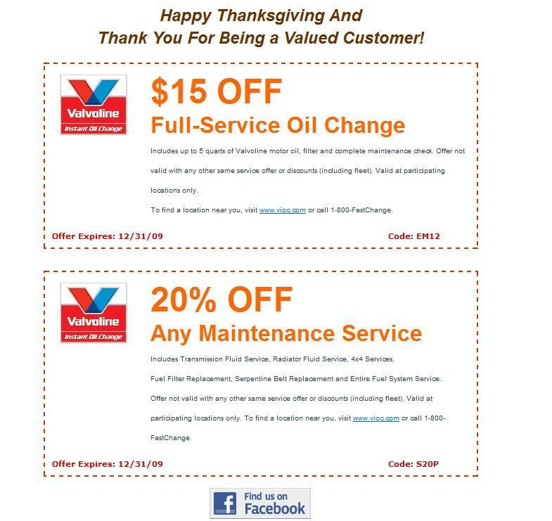 image regarding Valvoline Instant Oil Change Coupons Printable identified as Coupon valvoline oil variation - The vitiman store