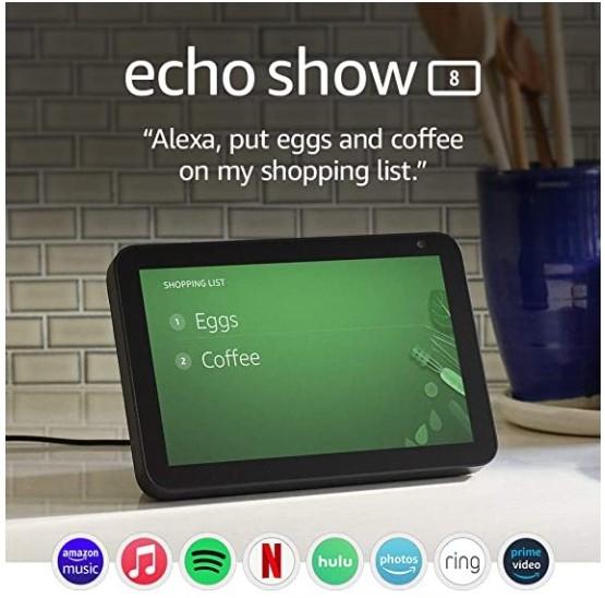 Echo Show 8 79.99$ + Free Shipping (Amazon Prime Members) $79.99