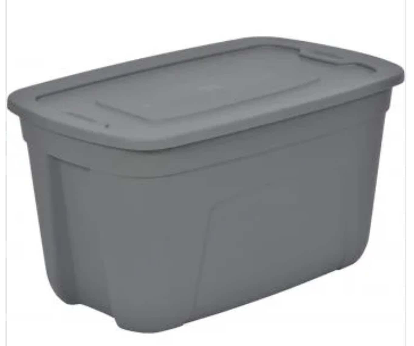 18/20 gallon totes for $2.99 @ Rural King